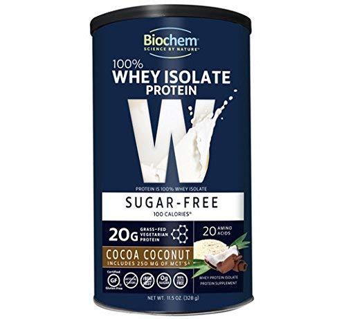 Biochem Sugar - 100% WHEY Protein - Cocoa Coconut - Sugar Free - 20g of Protein(11.5 Ounce)