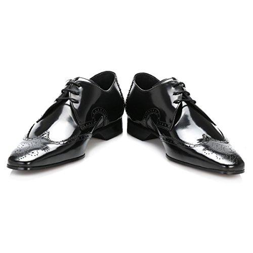 Jeffery West - Zapatos de cordones de cuero para hombre negro College Black