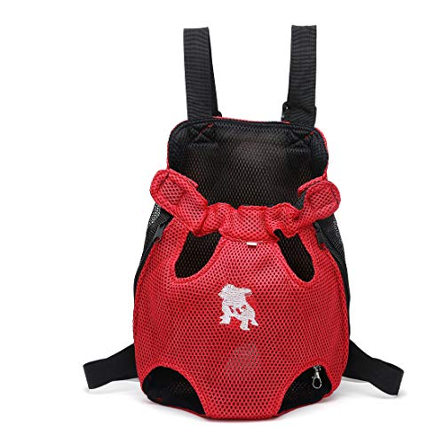 Petfellow Pet Carrier Soft-Sided Carrier Bag Portable Travel Mesh Bag Pet Tote Dog and Cat Crate Handbag (L, Red)
