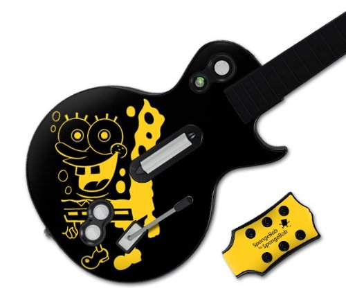 Zing Revolution MS-SBSB20026 Guitar Hero Les Paul- Xbox 360 and PS3- SpongeBob by SpongeBob- Iconic Skin (Ps3 Games Spongebob)