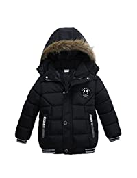 KONFA Baby Boys Girls Classic Cotton Padded Hooded Coat,Suitable for 1-4 Years Old,Winter Warm Thick Parka Tops