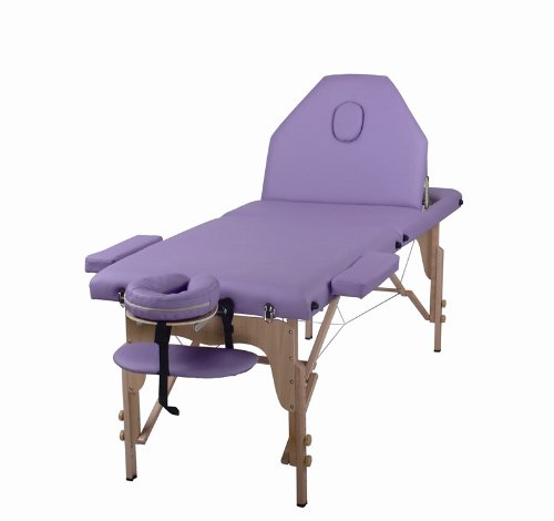 The Best Massage Table 3 Fold Purple Reiki Portable Massage Table – PU Leather w/ Free Acessories Review