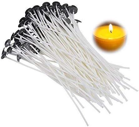 kit per realizzare candele adesivi fai da te Set di 100 stoppini per candele 2 supporti per stoppini N//AA
