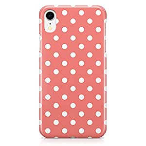 Loud Universe Case for iPhone XR Wrap Around Edges Pink White Polka Dot Pattern Rugged Durable Sleek Low Profile iiPhone XR Cover