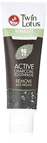 Twin Lotus Active Charcoal Toothpaste Herbaliste Triple Action 100 G