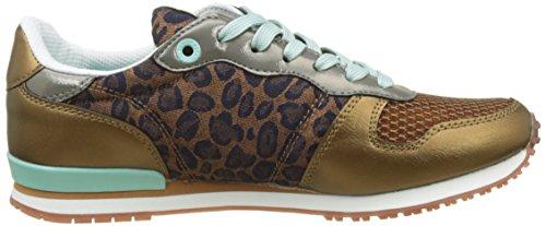 Pepe Jeans Damen Gable Print Sneaker Braun (tabacco)