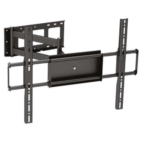 Black Full-Motion Tilt/Swivel Corner Friendly Wall Mount Bracket for Toshiba 65L350U 65