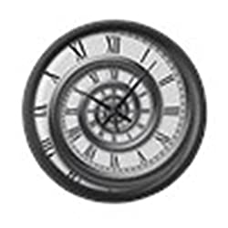 CafePress - Roman Spiral - Large 17 Round Wall Clock, Unique Decorative Clock