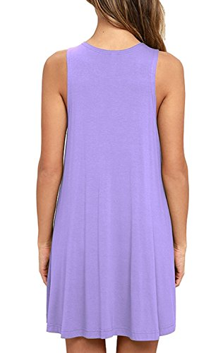 Pocket Casual T Sleeveless Lavender Women's Dress Loose Unbranded Shirt HwRp4qvH