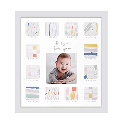 (Collage Photo Frame for Baby First Year Keepsake - 12 Months Picture Frames with Twelve 1.8
