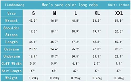 男性、シルクパジャマ男性のソリッドカラーシンサテンローブカーディガンルーズ長袖春と秋パジャマパジャマ (Color : C)