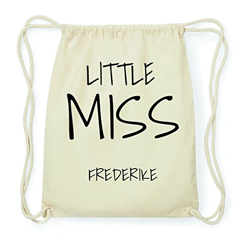 JOllify FREDERIKE Hipster Turnbeutel Tasche Rucksack aus Baumwolle - Farbe: natur Design: Little Miss EkFLXbpTI