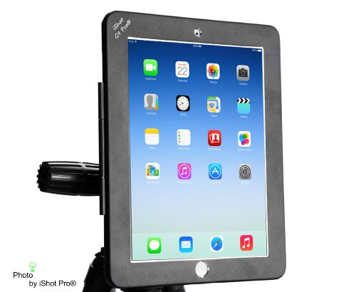 iShot G9 Pro iPad 2 3 4 Gen. Tripod Mount Adapter Holder Attachment - Easily and Safely Mount your iPad 234 to Any 1/4 inch Thread Standard Camera Tripod You Already Use - All Metal Custom Fit Frame by iShot Pro (Image #1)
