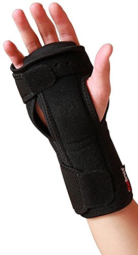 Metal Cast Guard (AidBrace Night Wrist Sleep Support Brace - Fits Both Hands - Cushioned to Help With Carpal Tunnel and Relieve and Treat Wrist Pain - Adjustable)