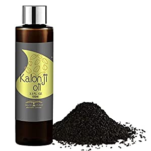 All Naturals 100% Pure Kalonji (Black Seed) Oil Cold-Pressed for Skin Toning, Hair Growth & Joints Massage – 100ml