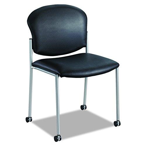 Safco Products 4194BV Diaz Guest Chair, Black Vinyl