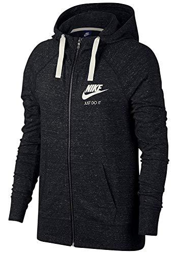 Nike Women's Sportswear Hoodie Black/Sail Size Large (All Zip Hoodie Full Nike Time)