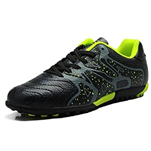T&B Soccer Shoes For Kids Turf Cleat Football Sneaker Black No.75523-HEI-35-3.5US