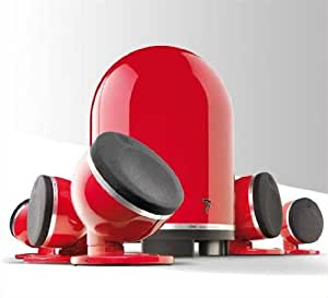 Focal DOME 5.1 - Equipo de altavoces de 100W, rojo