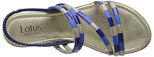 Sandales Lotus Multi Bleu Bout Bastia Blue Femme Ouvert OOArqw