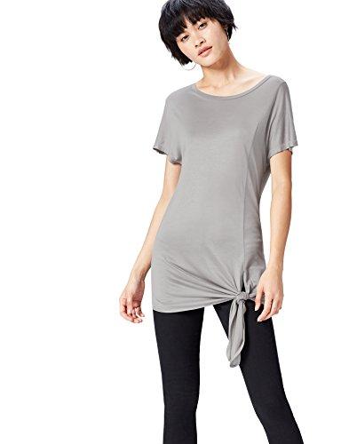 Mid Donna FIND Oversize T Grey Grigio Girocollo Shirt 1wZqvZSf