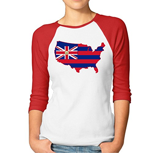 Women's Hawaii State Broad Stripes 3/4 Sleeve Raglan T-Shirt - Frames Honolulu Picture