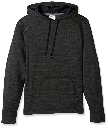 Champion Men's Premium Performance Fleece Pullover Hoodie, Forest Grove Heather/Black, 2X (Champion Lined Sweatshirt)