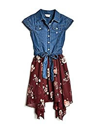 GUESS Factory Jamie Floral Tie-Front Dress (7-14)