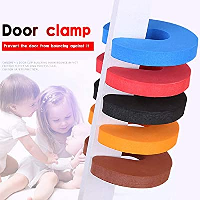 POPNINGKS Kids Clamp Protection for Window Doors Doorstop Stopper Protection Lock for Bedrooms, Bathrooms & Kitchens 6PC: Clothing