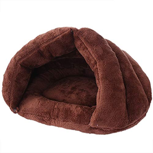 Beskie Pet Tent Cave Bed for Small Medium Cats Dogs Pets Sleeping Bag Thick Fleece Warm Slipper Dog Bed Cuddler Burrow House Hole Igloo Nest Cozy Triangle Bed for Cat Puppy