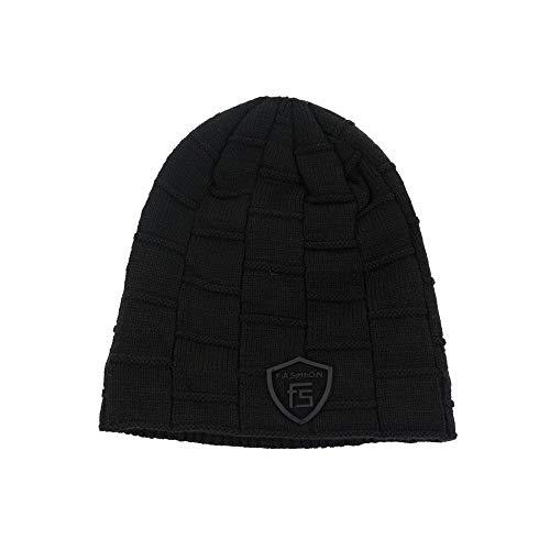 Sombrero AiNaMei Sombrero de con Black los de otoño de Capucha e Invierno Caliente Punto de Hombres Lana wIddqrp