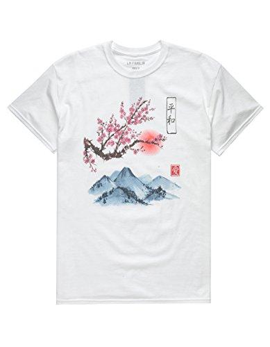 LA FAMILIA Fuji Sunset T-Shirt, White, - Tee Familia