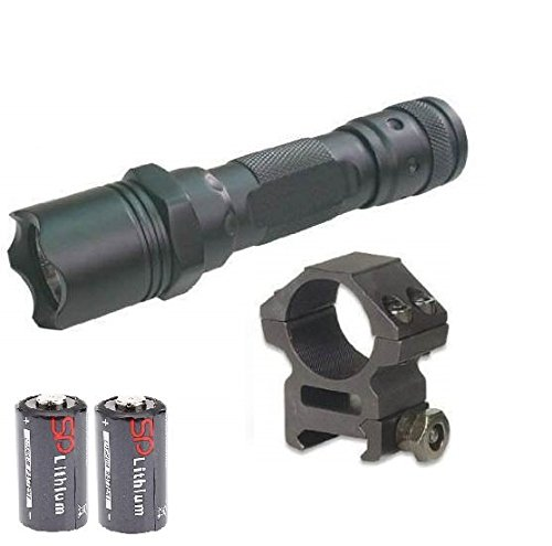 Push Button Tail Cap (MAKO GMG Global Military Gear 130+ Lumens L.E.D Flashlight LED Tactical - Light Kit For AR15, AR-15, M4,M-4, M16,M-16 Rifle With A 7/8
