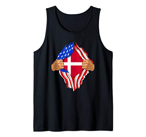 Danish Blood Inside Me Design | Denmark Flag Gift Tank Top ()