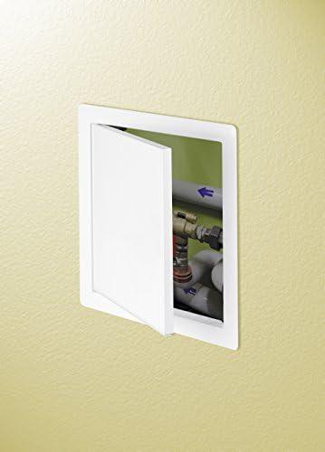 de inspecci/ón 15 x 15 cm Tapa o puerta Awenta blanca, de chapa de acero