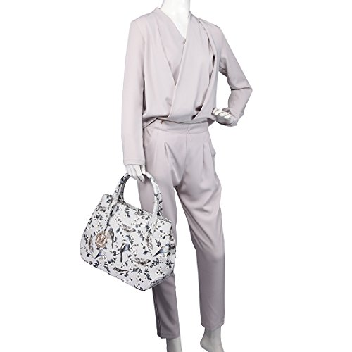 Miss Lulu , Damen Tote-Tasche grau Grau (Bird Grey)