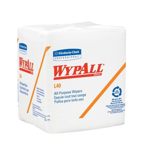 (White Wypall L40 1/4 Fold Wiper by Kimberly-Clark Corporation ( WIPER, WYPALL L40 1/4 FOLD WHT 56/PK ) 18 Pack / Case)