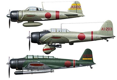 ハセガワ 1/48 日本海軍 零戦 21型&九九艦爆 11型 &九七式三号艦攻 真珠湾攻撃隊 プラモデル SP348