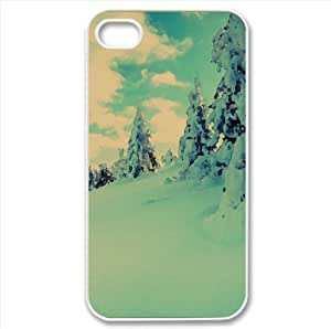 Winter, Mountains Watercolor style Cover iPhone 4 and 4S Case (Winter Watercolor style Cover iPhone 4 and 4S Case) by icecream design