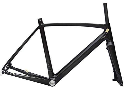 フルカーボン 光沢ディスクブレーキ ロードバイク サイクリング BB30 フレームフォーク 52cm