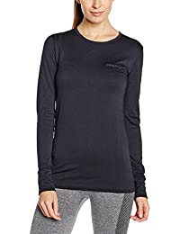 Women's Long Sleeve Active Comfort Roundneck Base Layer Seamless Shirt