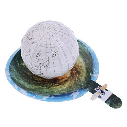 MonkeyJack DIY World Map Kid Assemble Earth Globe Geography Learning Toy Handcraft Gift