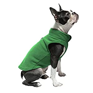 Gooby Every Day Fleece Cold Weather Dog Vest for Small Dogs, Green, Medium
