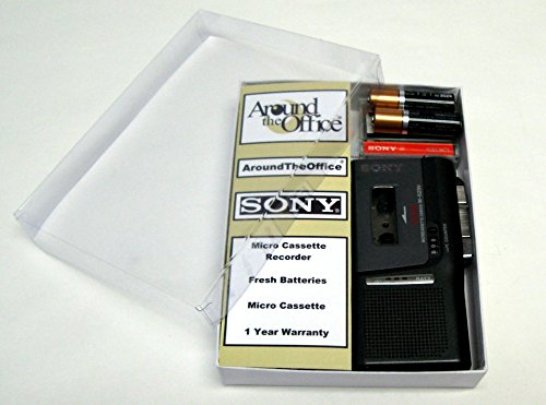 Price comparison product image Sony M-629V Microcassette handheld Voice Recorder Reboxed In Gift Box with Accessories