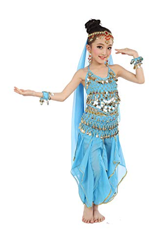 Cielary Kids Girls Belly Dance Halter Top Harem