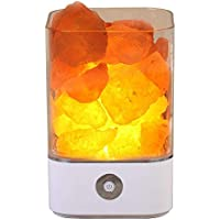 NEWKBO Himalayan Crystal Salt Desk Night Light Lamp with Adjustable 7 Colors Dimmer Control