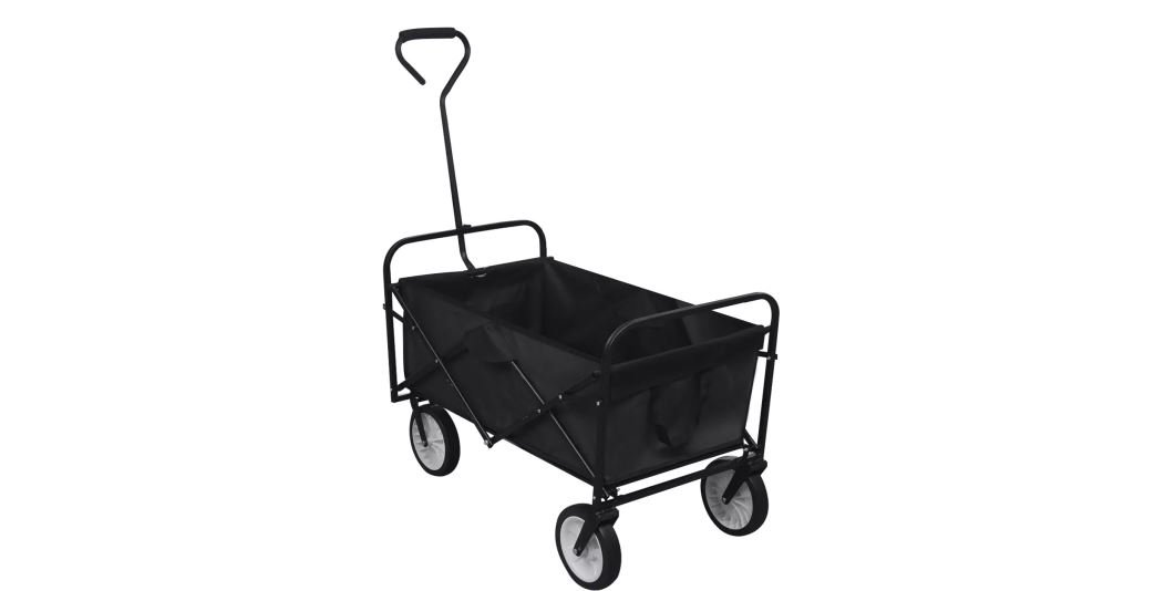 Foldable Hand Truck Cart Dolly Platform Trolley Heavy Folding Wheel Transport No Roof Black K&A Company