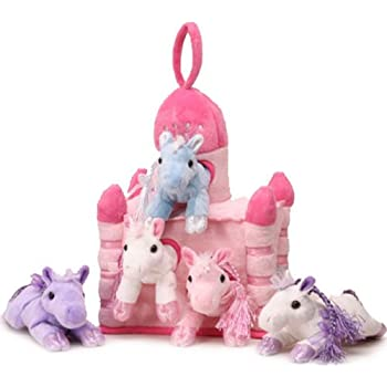 Amazon.com: Plush Unicorn Castle with Animals - Five (5