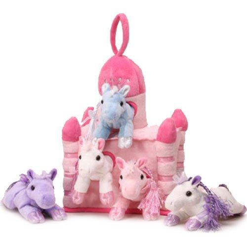 Amazon Com Unipak 12 Pink Plush Horse Castle 5 Stuffed Animal