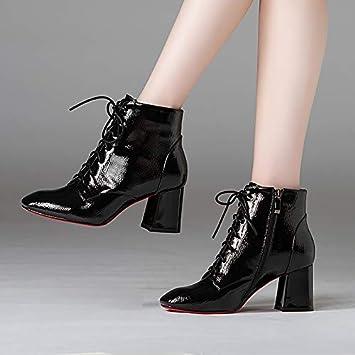 Shukun Botines Zapatos De Mujer, Zapatos De Mujer, Botas Martin: Amazon.es: Deportes y aire libre